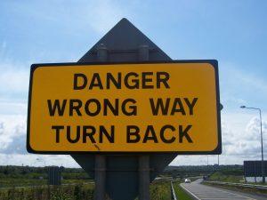 Wrong Way Turn Back sign no-description-1444769-1600x1200