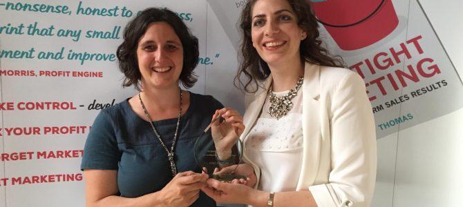 Kara Stanford of KMS Marketing wins award