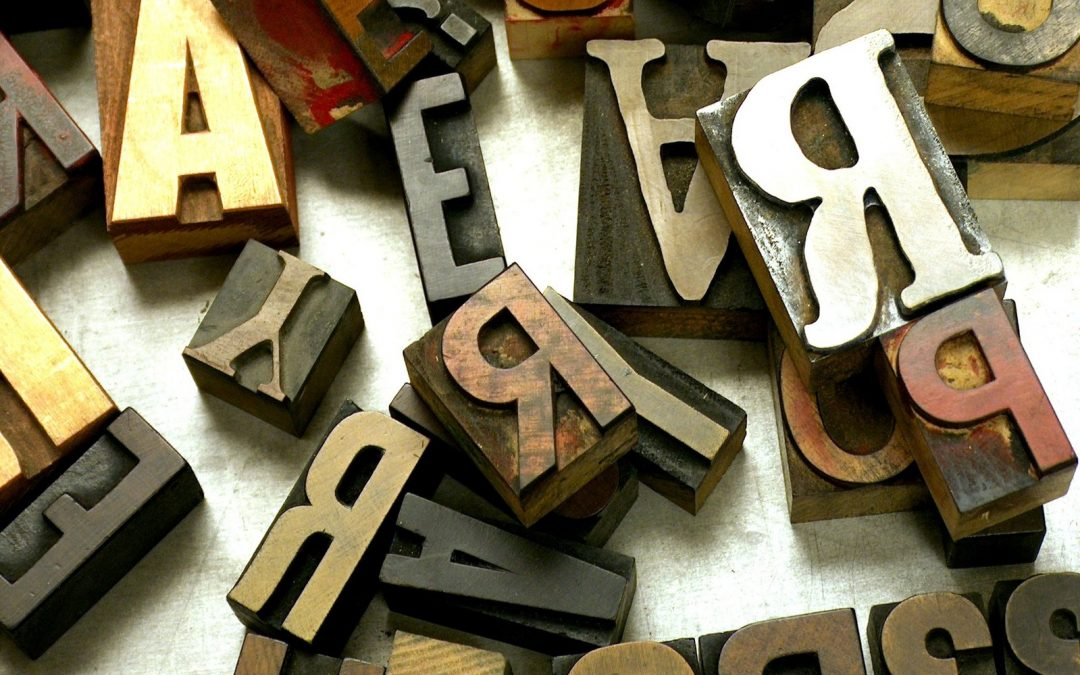 Jumbled letters and fonts